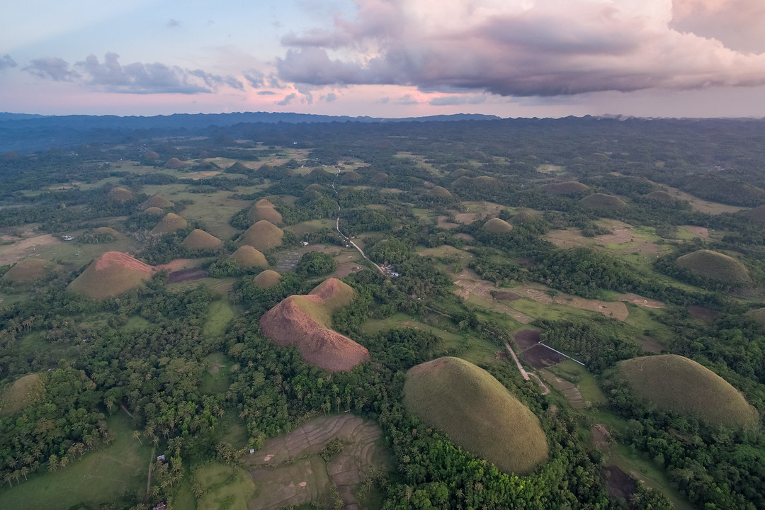 Chocolate Hills at Sunset